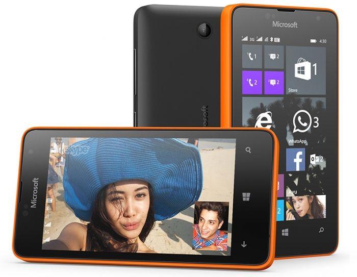Microsoft представила Lumia 430 Dual SIM с ценой всего 70 долларов