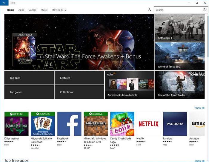 Microsoft готовится обновить интерфейс Windows Store