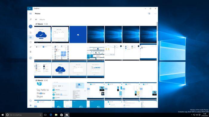 Скриншоты: новое универсальное приложение OneDrive для Windows 10