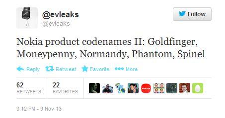 Nokia продолжает: раскрыты кодовые имена 5 не анонсированных устройств