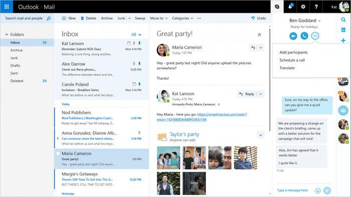 Новый Outlook.com выходит из статуса Preview