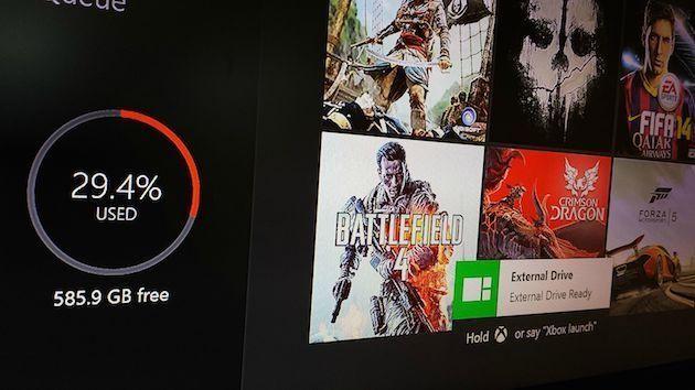 Microsoft добавит поддержку внешних накопителей в Xbox One