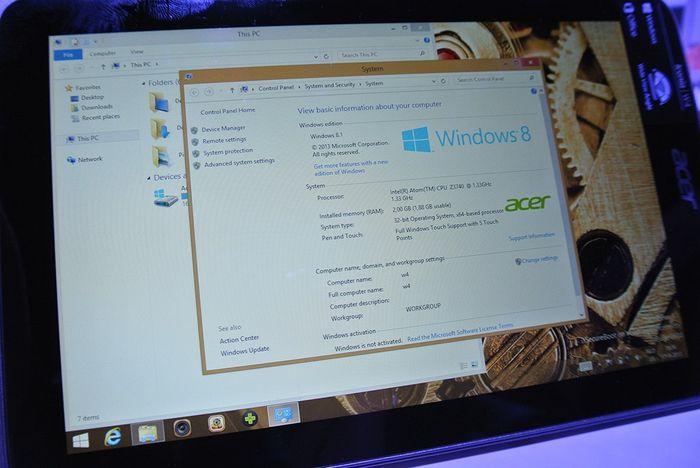 Фото и видео Acer Iconia W4 с улучшенным дисплеем и новым процессором