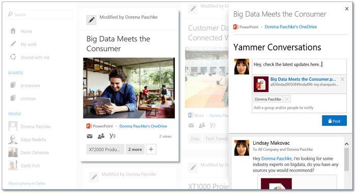 Office Delve: инструмент для повышения продуктивности корпоративных пользователей
