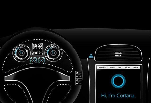 Microsoft хочет встроить Cortana в ветровые стекла автомобилей