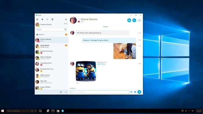 Microsoft анонсировала новое приложение Skype для Windows 10