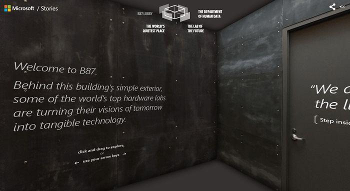B87: Microsoft открыла двери в свою футуристическую лабораторию