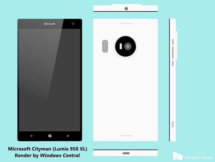 Microsoft Lumia 950 и Lumia 950 XL: новая информация и дизайн