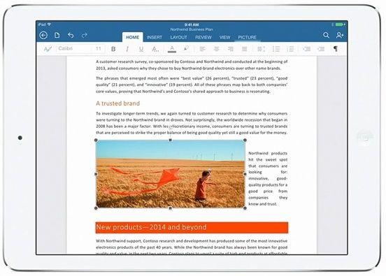 Microsoft выпустила Office для iPad