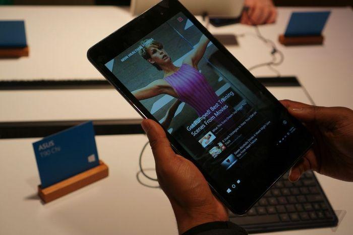 Microsoft показала Windows 10 на небольших планшетах