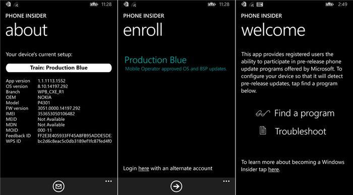 Microsoft выпустила приложение Phone Insider, которое вскоре позволит попробовать Windows 10 для мобильных устройств