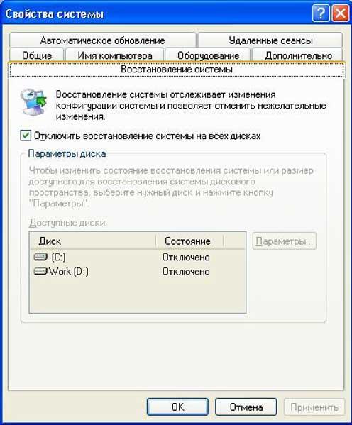 Очистка диска C на Windows