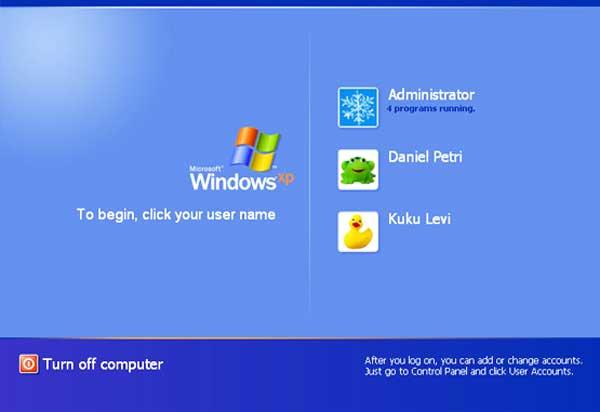 Убрать пароль при входе в систему