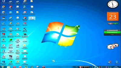 Уменьшить размер иконок на рабочем столе в Windows 7