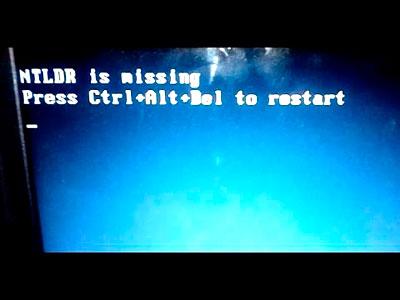 NTLDR is missing, что делать?