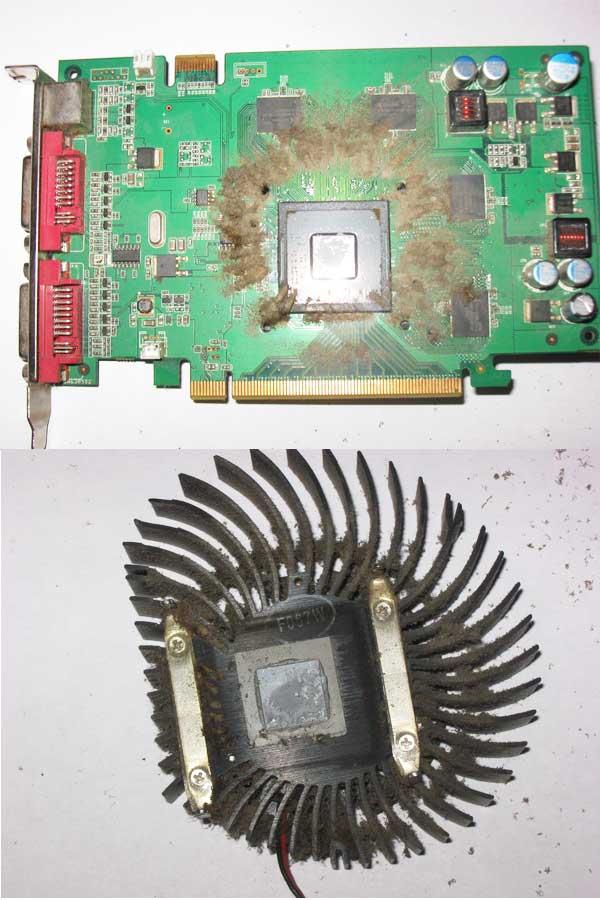 Очистка вентилятора видеокарты от пыли