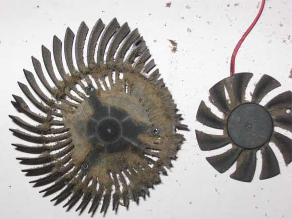 Очистка вентилятора от пыли