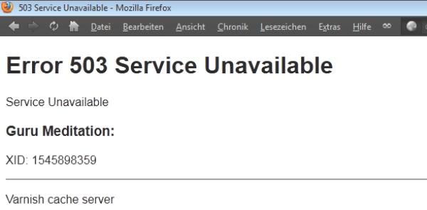 Ошибка 503 - при недоступности сайта