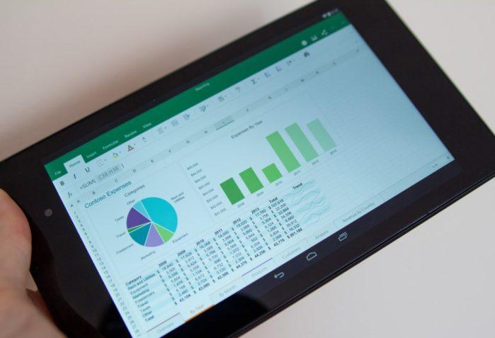 Excel - доступен для работы в гаджетах
