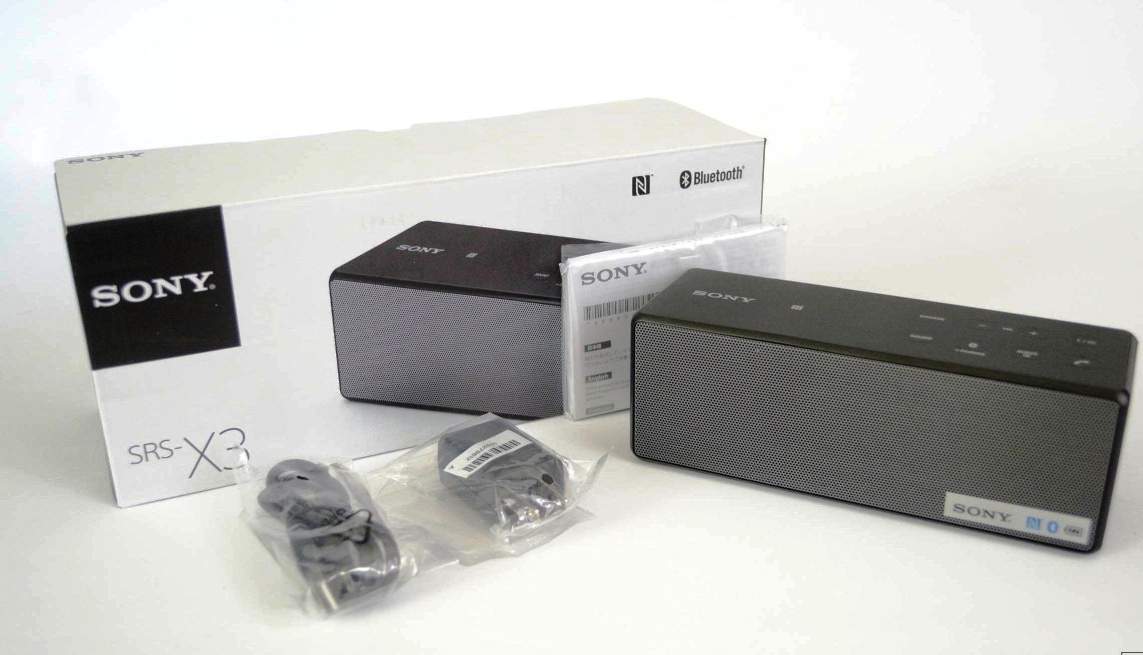 Sony SRS-X3: обзор технических характеристик