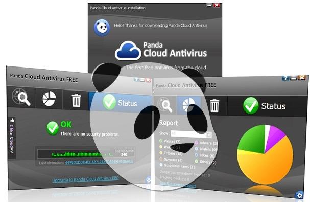"""А Panda Cloud Antivirus работает по новой технологии асинхронного сканирования внутри """"облака"""" только по факту доступа"""